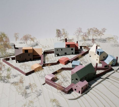 Duggan Morris Architects competition entry for The Oaks Housing on the outskirts of Prague in Czech Republic