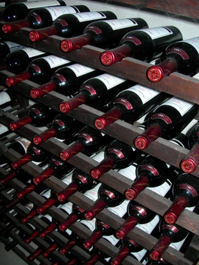 Store wine bottles in your homemade wine rack.