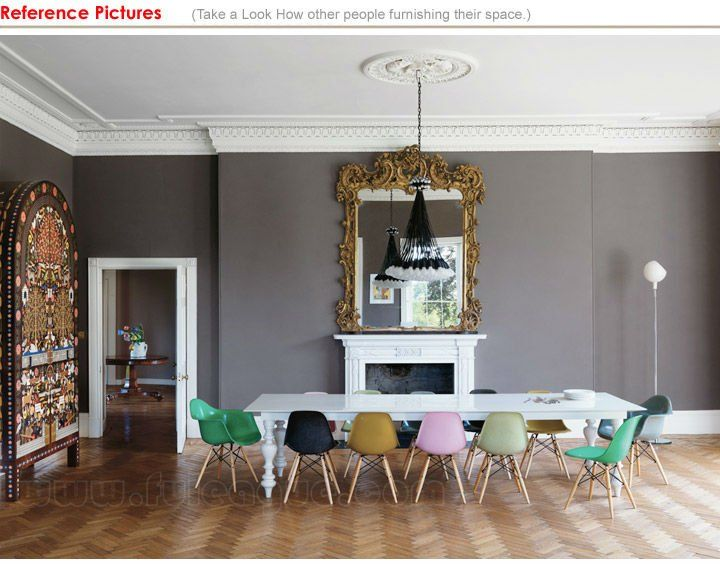 Beautiful Eames DSW Chairs   Mixed Colours How Cool