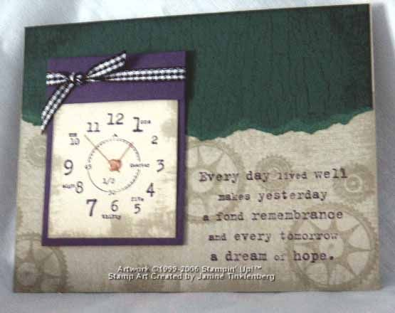 35 best SU Itu0027s About Time images on Pinterest Paper crafts - time card