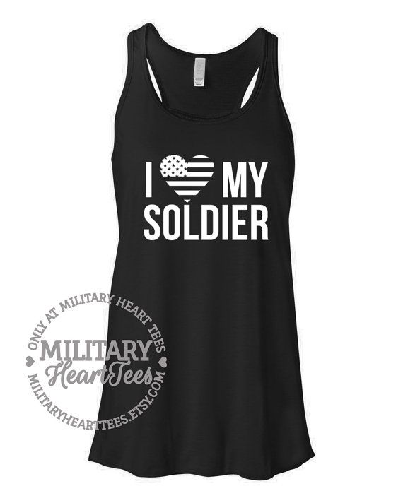 I love my Soldier Army Racerback Tank Top by MilitaryHeartTees