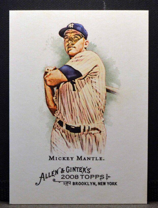 2008 Topps Allen Ginter 7 Mickey Mantle New York Yankees Nm Mt Newyorkyankees Mickey Mantle New York Yankees Baseball Baseball Cards