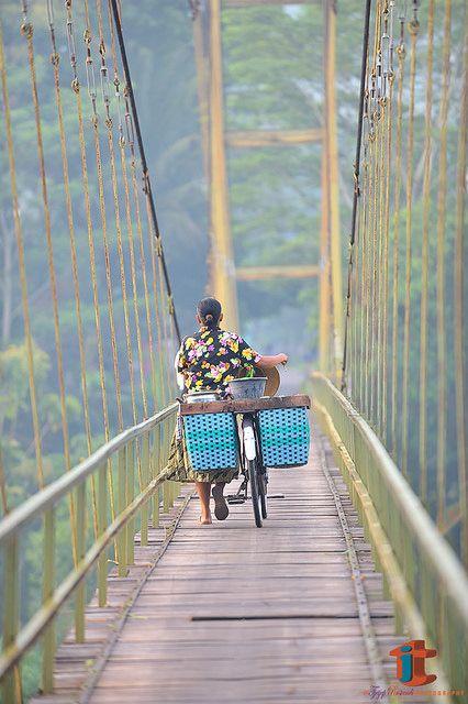 Bridge over Opak river, Pundhong, Yogjakarta Indonesia