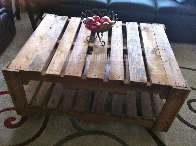 Pallet coffee tables when i m not making dresses how to for How to build a coffee table out of pallets