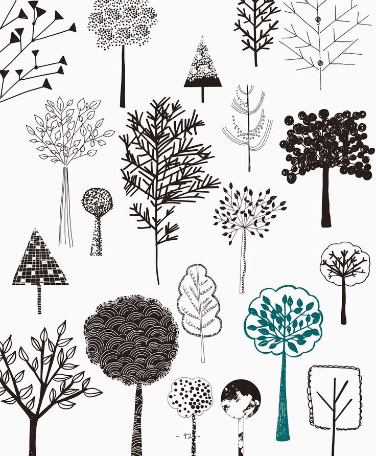 Craftside: 20 Ways to Draw Trees from Rachael Taylor's book, 20 Ways to Draw a Doodle
