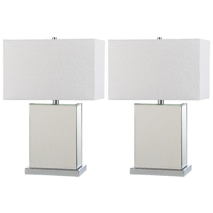 23-Inch Modern Table Lamp Set Of Two Indoor Lighting Home Office Decor #lamp