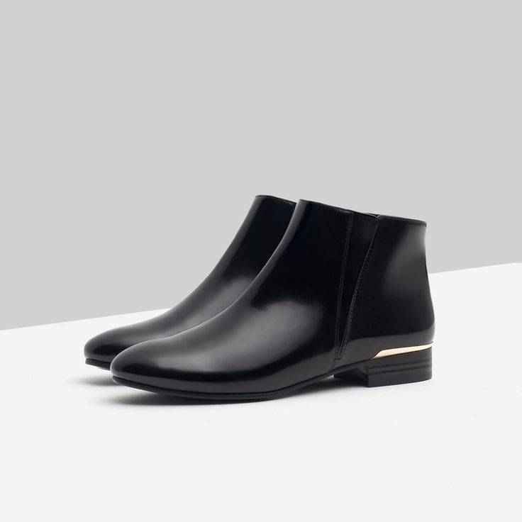 FLAT ANKLE BOOTS WITH METAL DETAIL-View all-Shoes-WOMAN | ZARA United States
