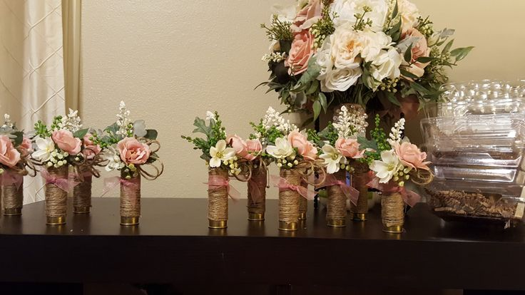 Shotgun shell wedding boutonnieres from Hen House Designs www.Henhousedesigns.net