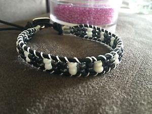 Leather Bracelet Chan Luu Stile Black and White | eBay