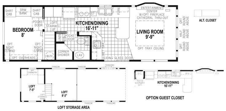 Audubon 12 X Park Model RV Floor Plan | Factory Expo Park Models