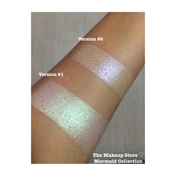 The Makeup Store ♡ Mermaid collection consists of two beautiful duochrome highlighters in colors minty green and lilac that are perfect for