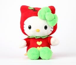 "Hello Kitty 8"" Fruit Plush: Apple"