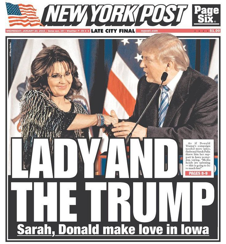 Funniest Memes Reacting to Sarah Palin's Endorsement of Trump: Lady and the Trump