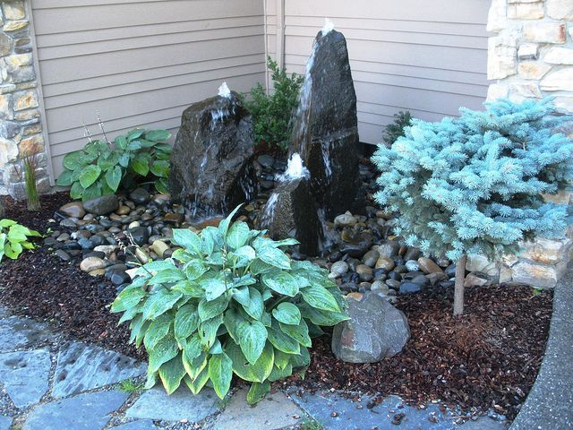 3 Column bubbling rocks water feature | Flickr - Photo Sharing!