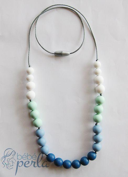 Silicone Teething necklace - Amy www.bebeperla.com