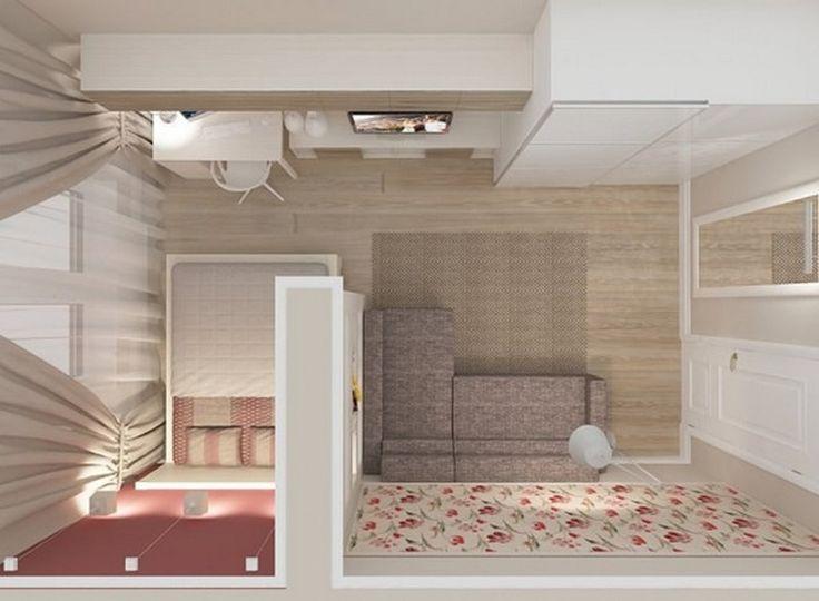 Картинки по запросу как совместить спальню и гостиную