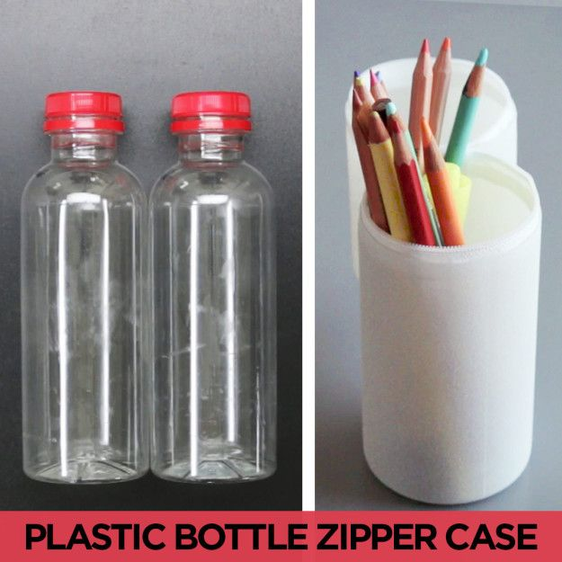 Upcycle Old Beverage Bottles With This Smart Pencil Case