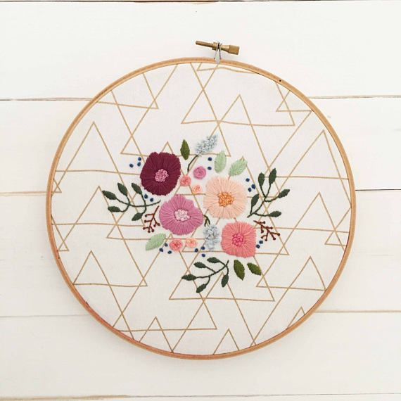 Fill your home with this quirky take on traditional floral embroidery. This listing is for embroidery hoop. Please select your preferred size in the drop down menu. Our hoops are all beautifully hand embroidered and can take several days to produce. By George is a one women operation, and these beautiful hoops take time. Each hoop is made from beautiful cotton drill, and embroidered with variety of quality threads in traditional tapestry colours. The hoops are finished on the reverse with a…