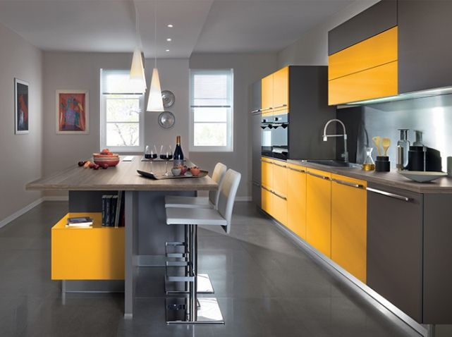 cuisine color e jaune schmidt cuisine kitchen pinterest d co de cuisine cuisine et schmidt. Black Bedroom Furniture Sets. Home Design Ideas