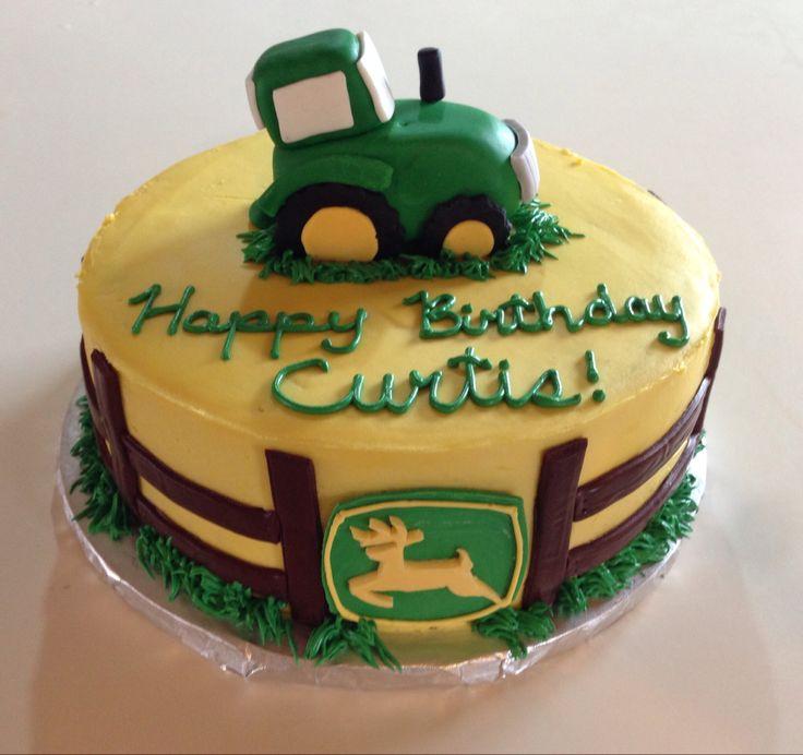 John Deere tractor cake