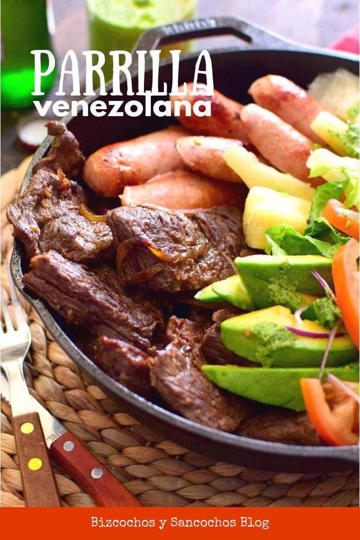 Cómo hacer una parrilla venezolana en la estufa, una idea para cuando no puedes prepararla al aire libre, mas la receta de la salsa verde de cilantro #parrilla #cocinavenezolana #recetasfáciles #ensarten #bizcochosysancochos Yummy Food, Tasty, Latin Food, Salsa Verde, Pot Roast, Hamburger, Sausage, Grilling, Beef