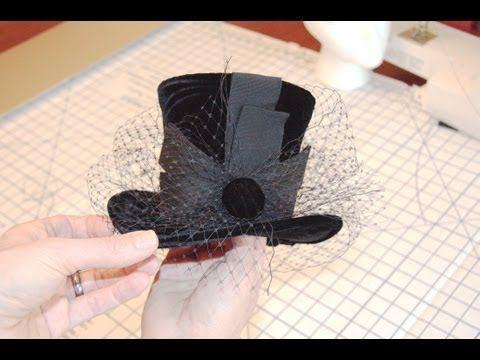 Mini sombreros de copa para hacer uno mismo - YouTube