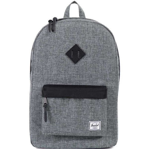 Herschel Supply Co Heritage Backpack ($74) ❤ liked on Polyvore featuring men's fashion, men's bags, men's backpacks, backpacks, bags, men and mens backpack