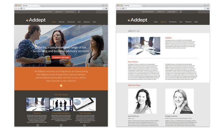 Addept Accounting Website Design