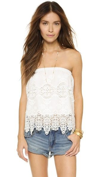 Nightcap Clothing Embroidered Tube Top