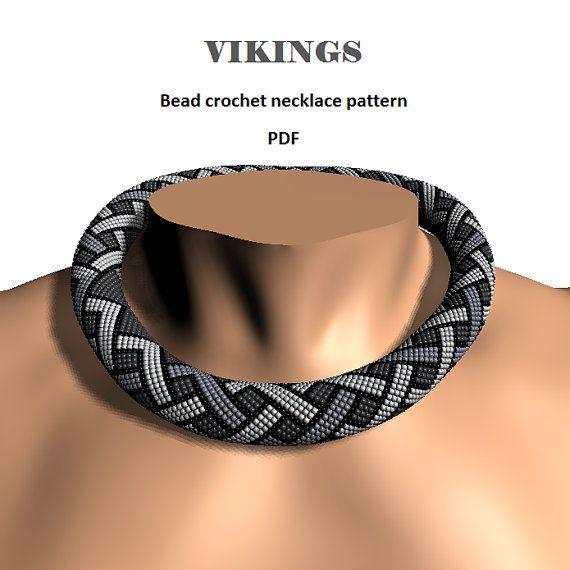 Wikinger.+Perle+häkeln+Seil+Muster+PDF+DIY+Perlen+Kette