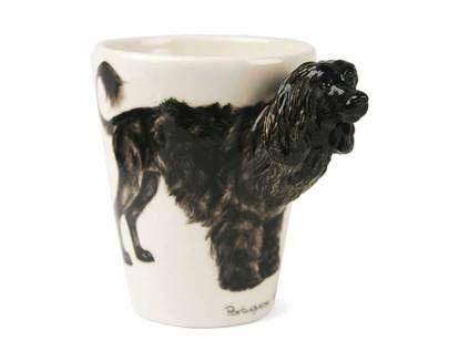 3D Tassen Hunde3d-Designer Tasse: Portugiesischer Wasserhund -handmade-