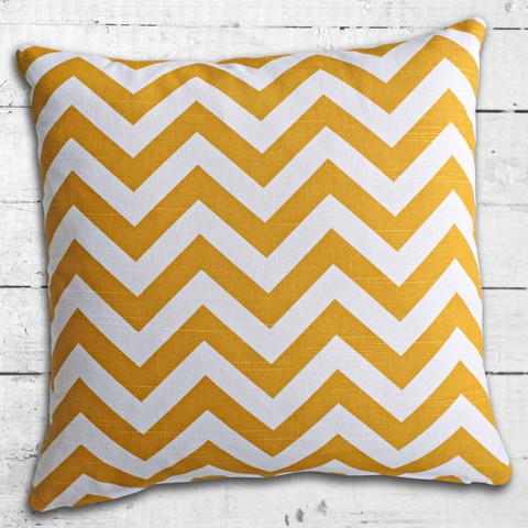 Cushions from Cushionopoly - ZigZag Yellow from the Beach House collection
