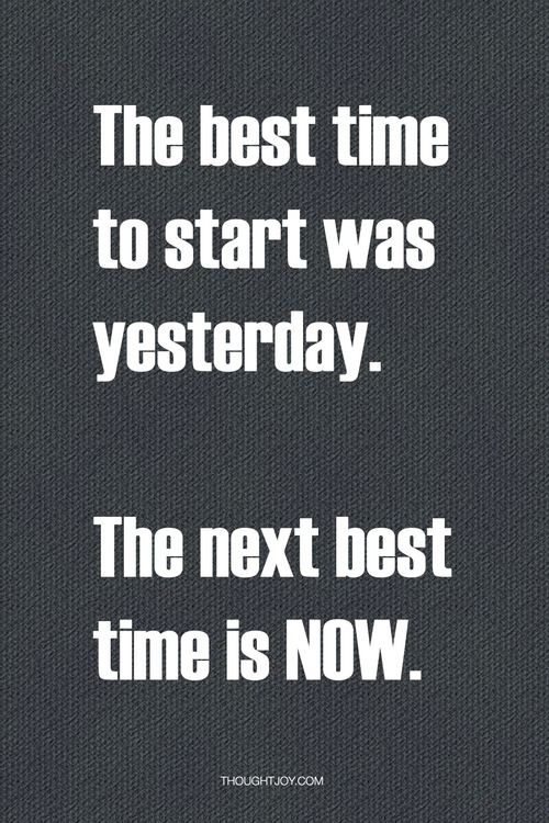 Next best time is now! START ACE TODAY! BE A more ENERGIZED PERSON with a zest for health & fitness~ www.facebook.com/MelissaACEFORLIFE