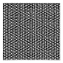Flower Of Life Intricate Weave #1 Poster
