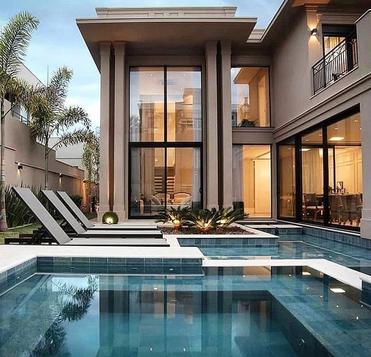 13 Stunning Outdoor Swimming Pool Design Ideas In 2020 House Designs Exterior Contemporary House Design Contemporary House Exterior