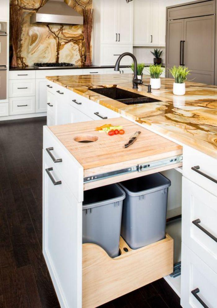 Pull Out Garbage Kitchen Design Home Kitchens Modern Kitchen