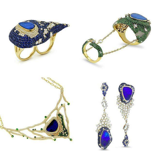 Michael John Jewelry with opals, sapphires and tsavorites. . 💙💚💙 . . ➡ P L E A S E swipe on the post above to see close up images. . #michaeljohn #jewellery #michaeljohnjewelry #jewelry #sapphire #opal #opals #ring #rings #tsavorite #gemstone #jewelleryaddict #schmuck #schmuckblogger #instajewels #instastyle #highjewellerydream #highjewelry #highjewellery #hautejoaillerie #jewelryblogger