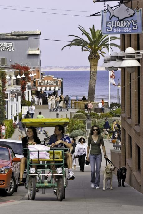 Cannery Row, Monterey, California. The Monterey Bay Aquarium is just down the street. Went there last summer and it was amazing!!