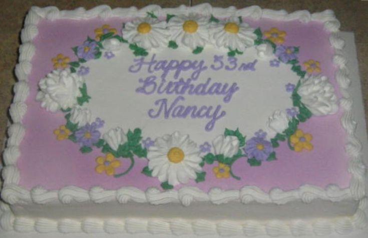Flower Sheet Cakes for Birthdays sheet cake, lavender ...
