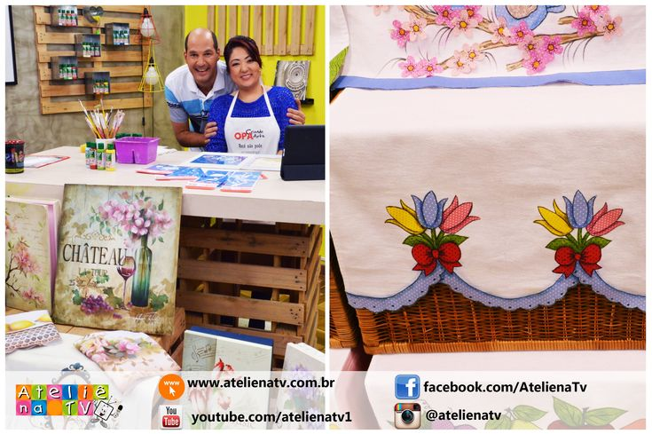 Ateliê na TV - Rede Brasil - 28.06.16 - Mayumi Takushi e Márcia Caires
