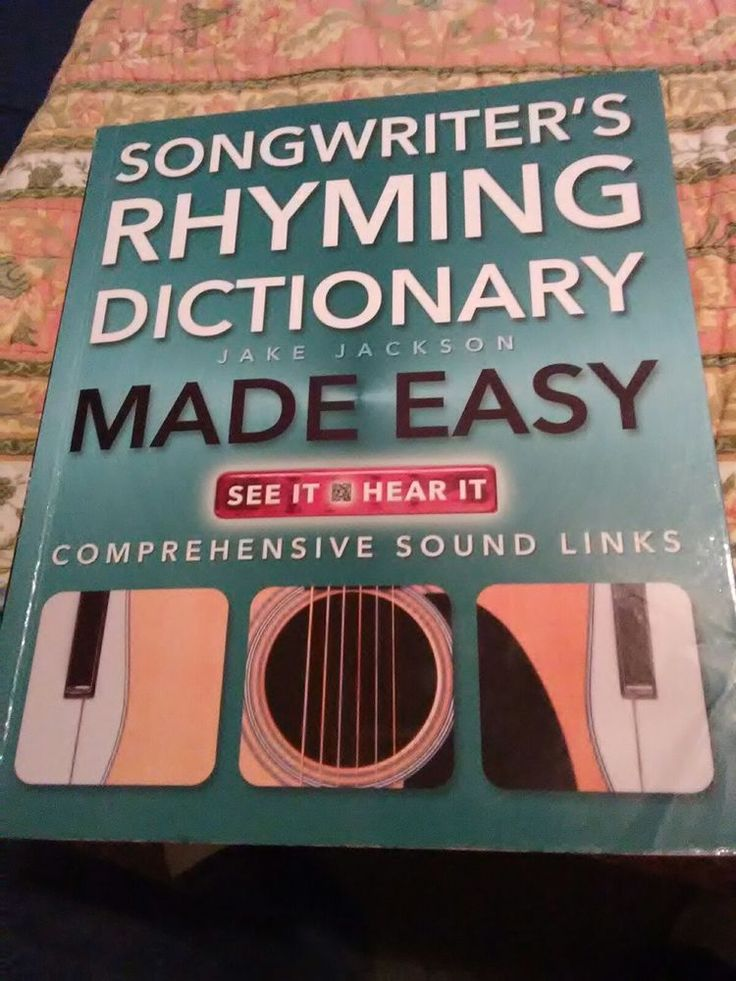 Songwriter's Rhyming Dictionary Made Easy: Comprehensive Sound Links (Music Made