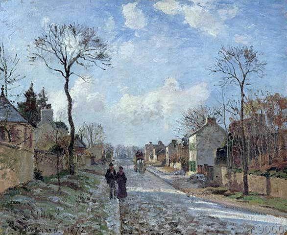 Camille Pissarro - The Road to Louveciennes, 1872 (80,0 x 66,0 cm)                                                                                                                                                                                 More