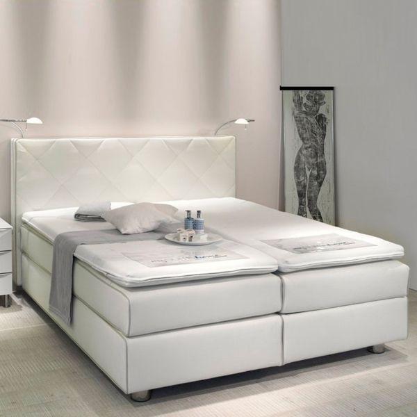 woraus besteht ein boxspringbett matratzen topper weiß
