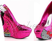 Hello Kitty Design-wedge, pump, or flat.