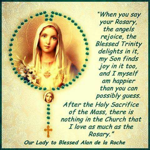 Beautiful inspiration to pray the Rosary.