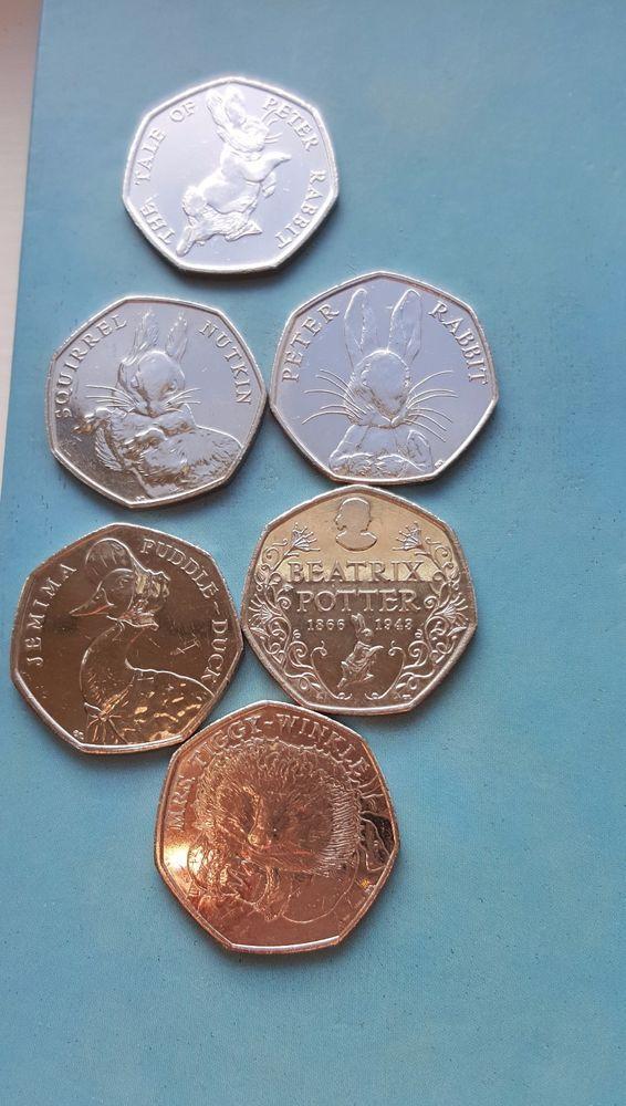 Jemima Puddle Duck 50p Coins Peter Rabbit Squirrel Nutkin Tiggywinkle Beatrix  £16.50 or Best Offer Ebay UK Item Number 263538719196