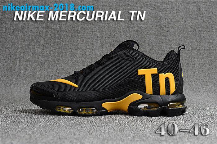 Fashion Mens Nike Air Max TN KPU For Sale Black Golden | Nike air ...
