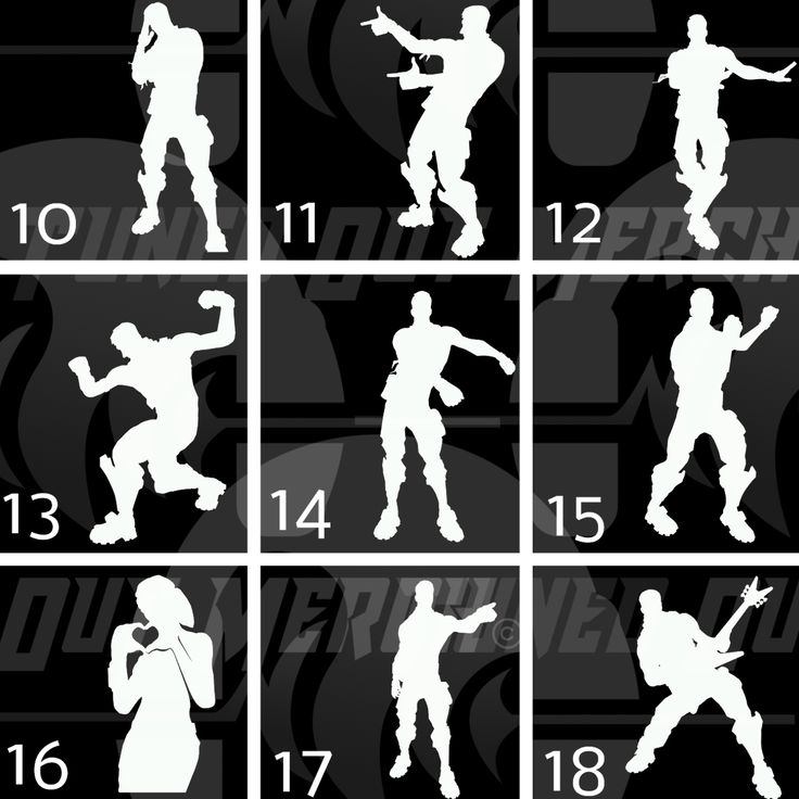 Image result for fortnite dance moves silhouettes | Fortnight