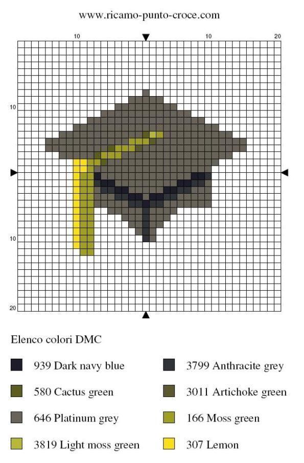 Graduate cap hama perler pattern