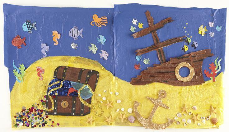 Cute Shipwreck Ocean Wall Display O Is For Ocean
